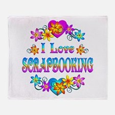 I Love Scrapbooking Throw Blanket