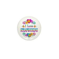 I Love Scrapbooking Mini Button (10 pack)