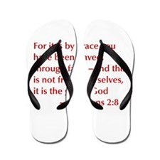 Ephesians-2-8-opt-burg Flip Flops