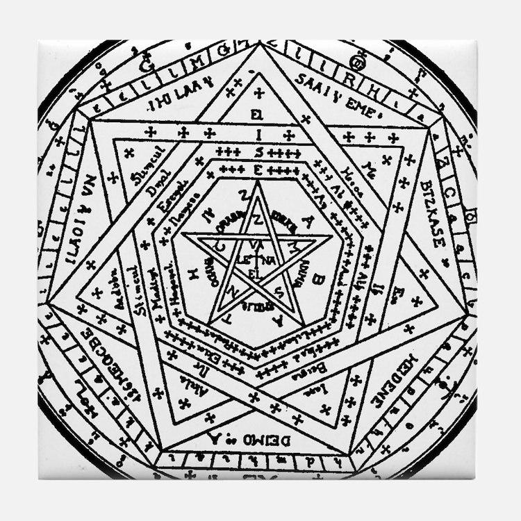 Sigillum Dei Aemeth Tile Coaster
