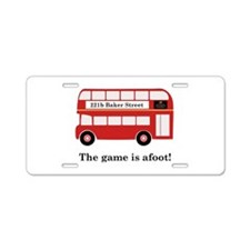 Game Is Afoot Aluminum License Plate