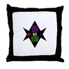 93 Hexagram Throw Pillow