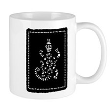 African Tribal Turtle in Black and White Mug