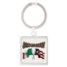 MexiRican Flags centered Keychains