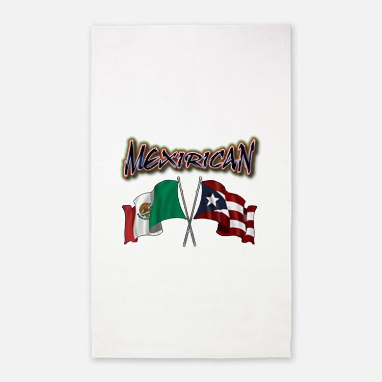 MexiRican Flags centered 3'x5' Area Rug