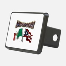 MexiRican Flags centered Hitch Cover