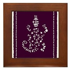 African Tribal Turtle ---purple and White Framed T