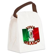 Mexico-flag3.png Canvas Lunch Bag