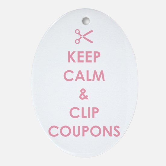 CLIP COUPONS Ornament (Oval)