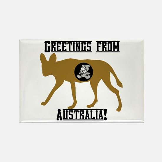 Greetings from Australia! Rectangle Magnet