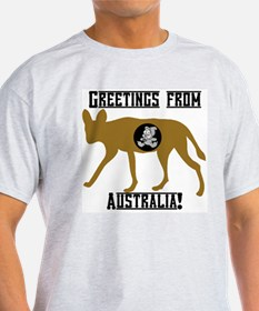 Greetings from Australia! Ash Grey T-Shirt