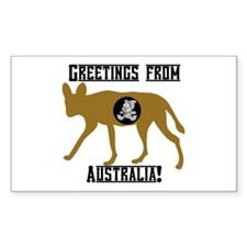 Greetings from Australia! Rectangle Decal