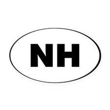New Hampshire, NH Oval Car Magnet