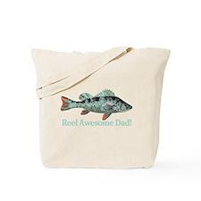 Reel Awesome Dad Fisherman Humor Tote Bag