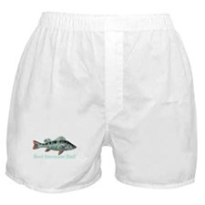 Reel Awesome Dad Fisherman Humor Boxer Shorts