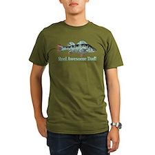 Reel Awesome Dad Fisherman Humor T-Shirt