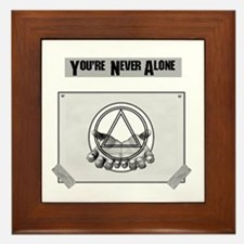 Youre Never Alone Framed Tile