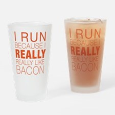 Run For Bacon Drinking Glass