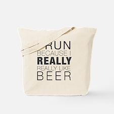 Run for Beer. Tote Bag