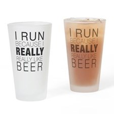 Run for Beer. Drinking Glass