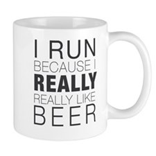 Run for Beer. Small Mug