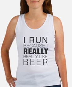 Run for Beer. Tank Top