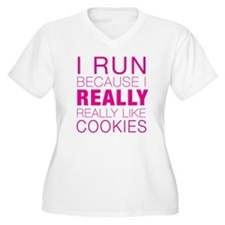 Run for Cookies Plus Size T-Shirt