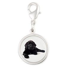 Labrador Retriever Silver Round Charm