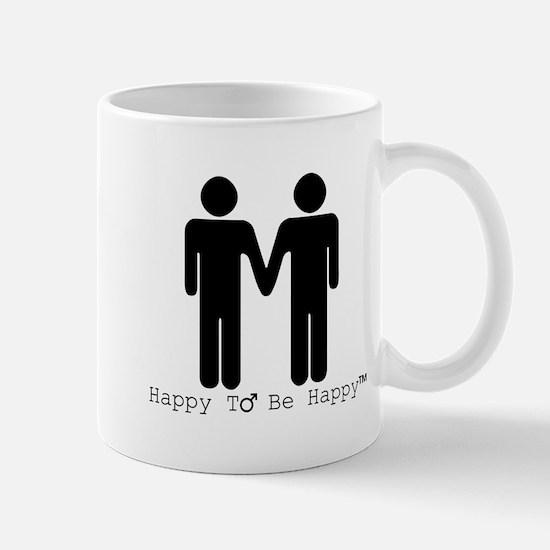 Happy to Be Happy Male Mug