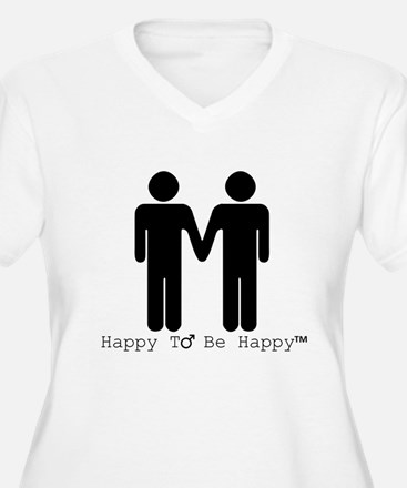 Happy to Be Happy Male Plus Size T-Shirt