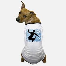 Snowboarding (Blue) Dog T-Shirt