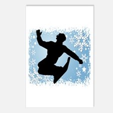 Snowboarding (Blue) Postcards (Package of 8)