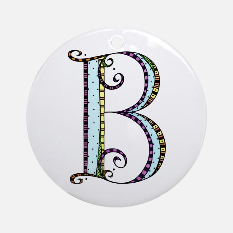 What Fun Monogram - B Ornament (Round)