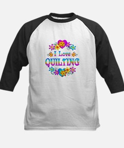 I Love Quilting Kids Baseball Jersey