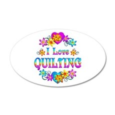 I Love Quilting Wall Decal