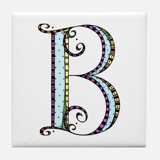 What Fun Monogram - B Tile Coaster