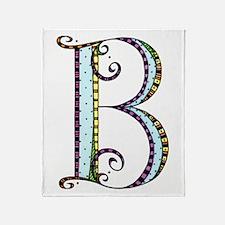 What Fun Monogram - B Throw Blanket