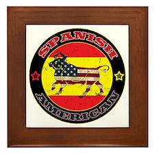 Spanish American Bull Framed Tile