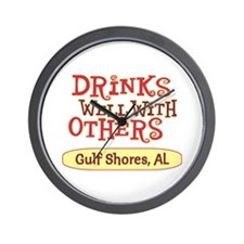 Gulf Shores - Drinks Well Wall Clock