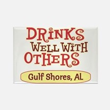 Gulf Shores - Drinks Well Rectangle Magnet