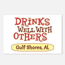Gulf Shores - Drinks Well Postcards (Package of 8)