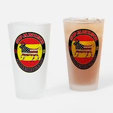 Spanish American Bull Drinking Glass