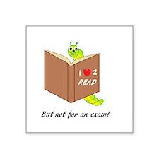 I Love 2 Read Sticker