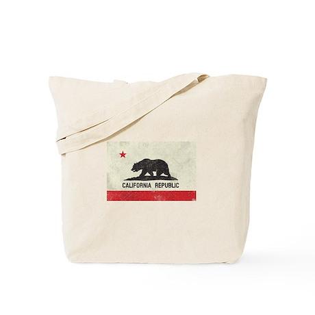 California Grunge Bear Tote Bag