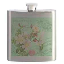 Modern vintage french hummingbird Flask