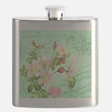 Modern vintage french hummingbird Flask