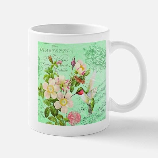 Modern vintage french hummingbird Mug