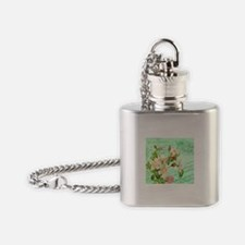 Modern vintage french hummingbird Flask Necklace