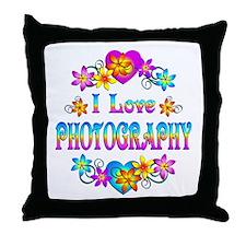 I Love Photography Throw Pillow
