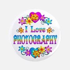 """I Love Photography 3.5"""" Button (100 pack)"""